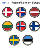 Flaggen von Nord-Europa Flaggen 6 Stockfotos
