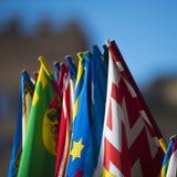 Flaggen von Palio Stockbild
