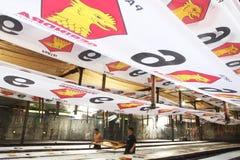 Flaggen von politischen Parteien Lizenzfreies Stockfoto
