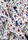 Flaggen von Südkorea Stockfoto