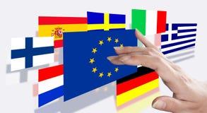 Flaggen von verschiedenen Ländern der Welt Stockbild