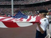 Flaggen-Zeremonie an der Staat Ohio-Hochschulstaffelung Lizenzfreie Stockfotos