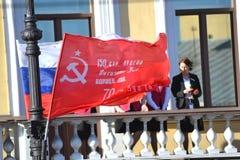 Flaggen zu Ehren Victory Days Lizenzfreie Stockfotografie