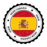 Flaggenausweis Gran Canaria Stockfoto