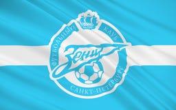 Flaggenfußballclub Zenit, Russland lizenzfreie abbildung