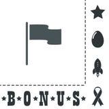 Flaggenikone Standortmarkierungssymbol Flache Designart Lizenzfreie Stockfotos