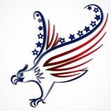 Flaggenikonen-Logovektor Eagle Americans USA vektor abbildung