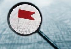Flaggenkarte vergrößert Lizenzfreies Stockfoto