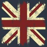 Flaggent-stück Druck-Vektordesign Weinlese-Vereinigten Königreiches Großbritannien und Nordirland Stockfoto