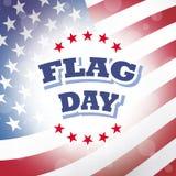Flaggmärkesdagamerikanska flagganbakgrund Arkivfoton