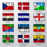 Flaggor. Arkivfoton