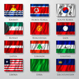 Flaggor. Fotografering för Bildbyråer