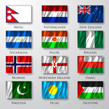 Flaggor. Arkivfoto