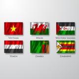 Flaggor. Arkivbild