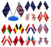 flaggor 3d Royaltyfri Bild
