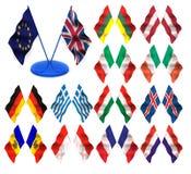 flaggor 3d Royaltyfri Fotografi