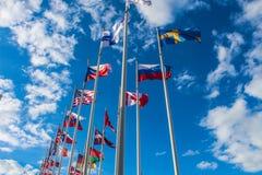 Flaggor arkivfoton