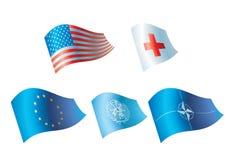 flaggor stock illustrationer