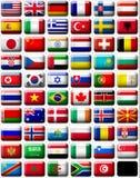 flaggor royaltyfri illustrationer
