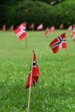 flaggor arbeta i trädgården norrman fotografering för bildbyråer