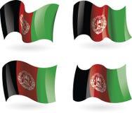 4 flaggor av Afghanistan Arkivfoton