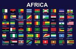 Flaggor av Afrika Royaltyfri Bild