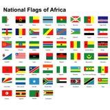 Flaggor av Afrika Royaltyfri Fotografi