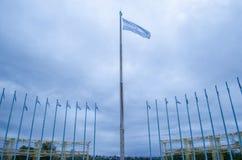 Flaggor av argentine Royaltyfri Foto
