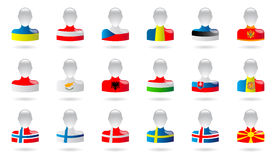 Flaggor av Europa Fotografering för Bildbyråer