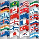 Flaggor av europeiska nationer royaltyfri illustrationer