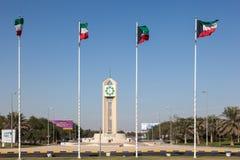 Flaggor av Kuwait Royaltyfri Fotografi