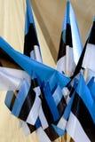 Flaggor av Republiken Estland i vit för blå svart Royaltyfria Foton