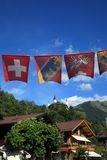 Flaggor av Schweiz Royaltyfri Fotografi