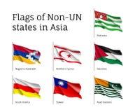 Flaggor av tillstånd icke-FN Royaltyfri Fotografi