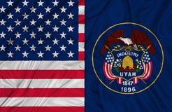 Flaggor av Utah royaltyfri illustrationer