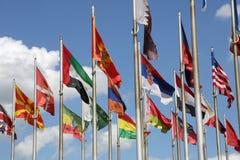 Flaggor av världen royaltyfria foton