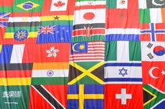 Flaggor av världen Royaltyfri Bild
