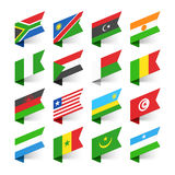 Flaggor av världen, Afrika royaltyfri illustrationer