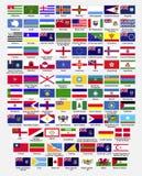 Flaggor av världen, samling, del 2 royaltyfri illustrationer