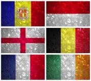 Flaggor av Västeuropadel 2 Arkivfoton