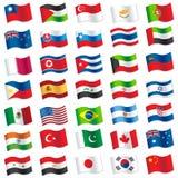 Flaggor av världen Royaltyfria Bilder