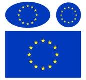 flaggor för commission för bakgrundsBelgien berlaymont brussels byggnad headquarters europeiska union Royaltyfria Bilder