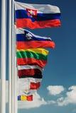 Flaggor för europeiskt land royaltyfri bild