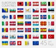 Flaggor för europeiskt land Arkivfoton