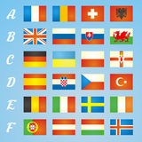 Flaggor 2016 för Frankrike fotbollsymboler av deltagandeländerna Royaltyfria Foton
