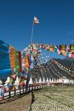 Flaggor för tibetan platå Fotografering för Bildbyråer
