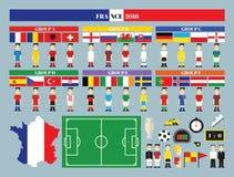 Flaggor och grupper Royaltyfri Fotografi