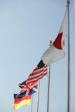 flaggor som för strömmar Arkivbilder