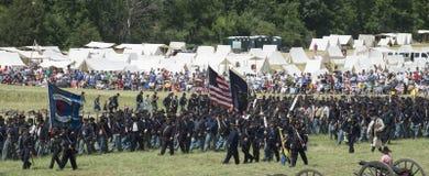 Flaggor som flyger på Gettysburg Arkivbilder