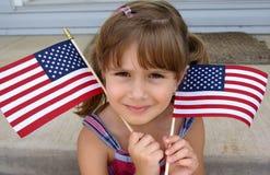 flaggor som rymmer USA Fotografering för Bildbyråer
